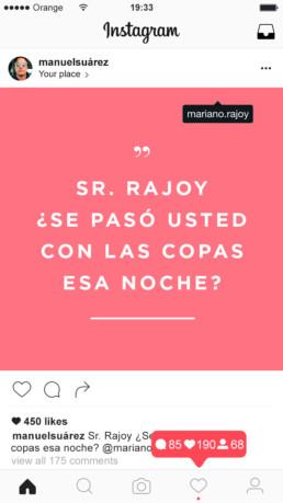 Publicidad contra la violación en Instagram