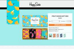 Página web de Happy Socks