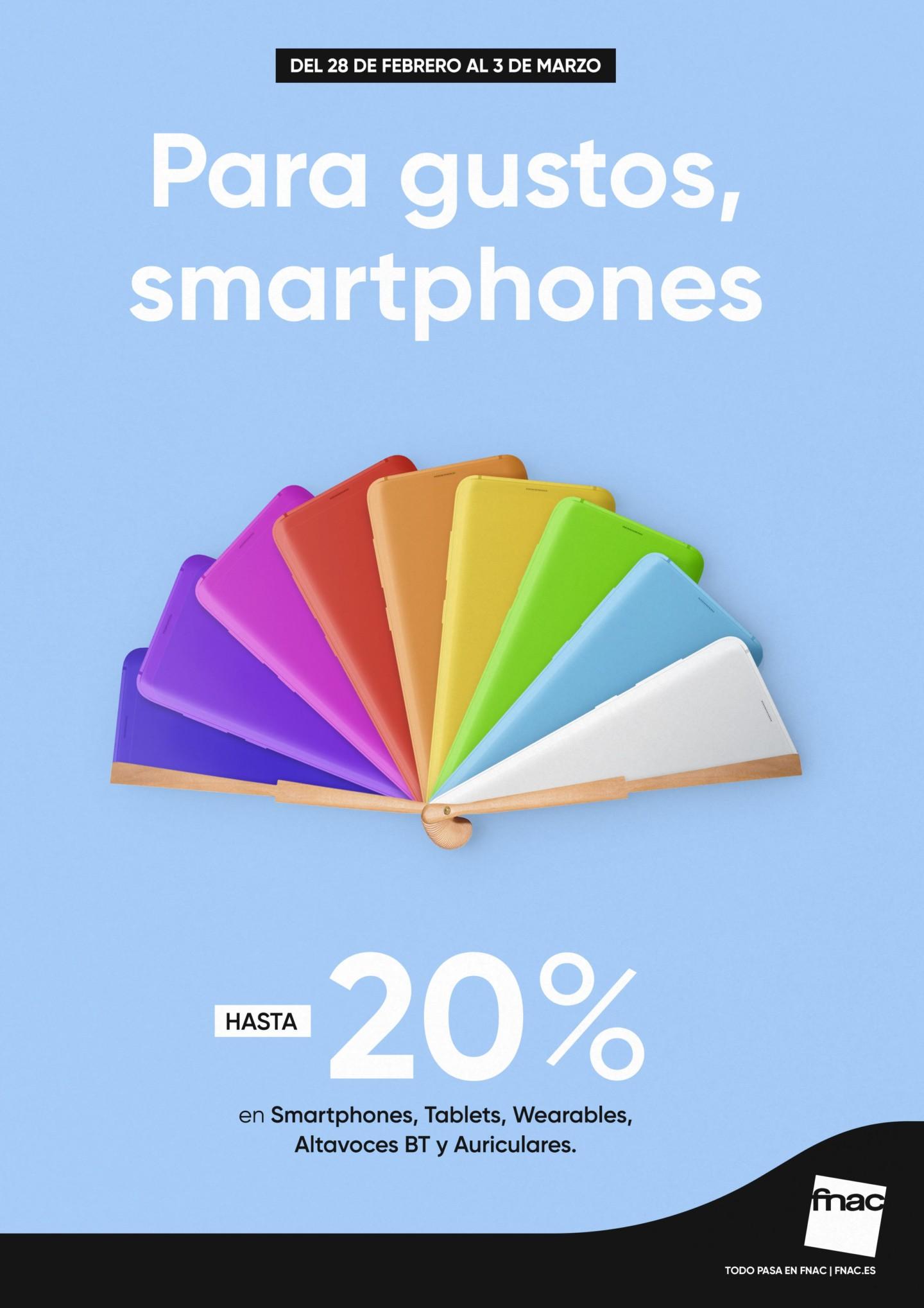 Publicidad Fnac de descuentos de smartphones